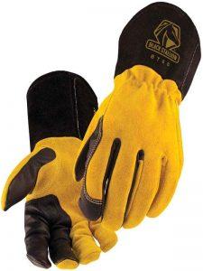BSX Premium 3 Kidskin Finger Cowhide Back TIG Welding Gloves - BT88 LARGE