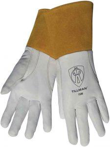 Tillman 1338 Top Grain Goatskin TIG Welding Gloves with 4 Cuff, X-Large